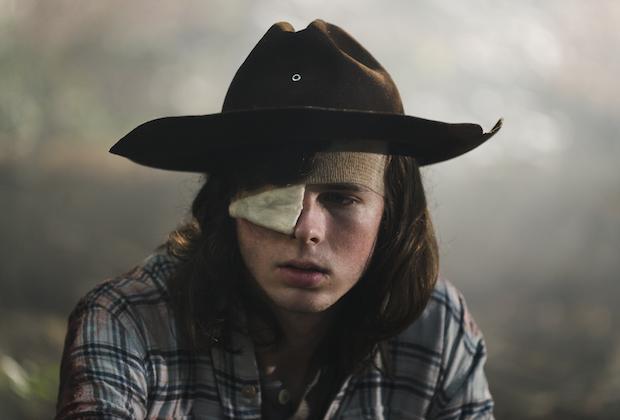 the walking dead season 8 episode 9 carl dying chandler riggs
