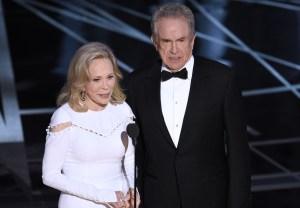 Warren Beatty Faye Dunaway 2018 Oscars Best Picture Presenters