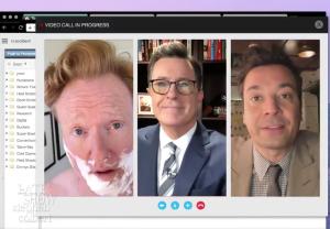 Stephen Colbert Jimmy Fallon Conan O'Brien Video Trump Response