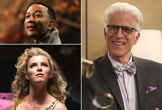 Emmy Nomination Reactions 2018 Ted Danson Betty GIlpin