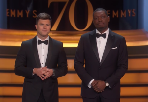 Emmys 2018 Michael Che Colin Jost Opening Monologue