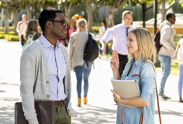 The Good Place Season 3 Premiere Chidi Eleanor