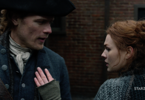 Outlander Jamie Brianna reunion Season 4 Episode 9 The Birds and the Bees