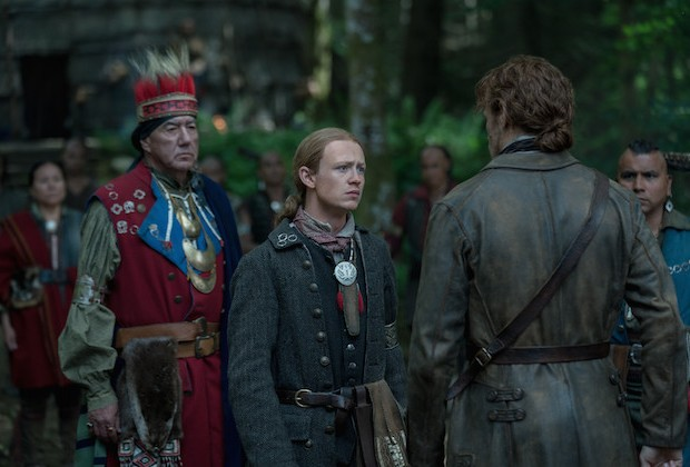 Outlander Finale Season 4 Episode 13 John Bell Interview Ian Mohawk