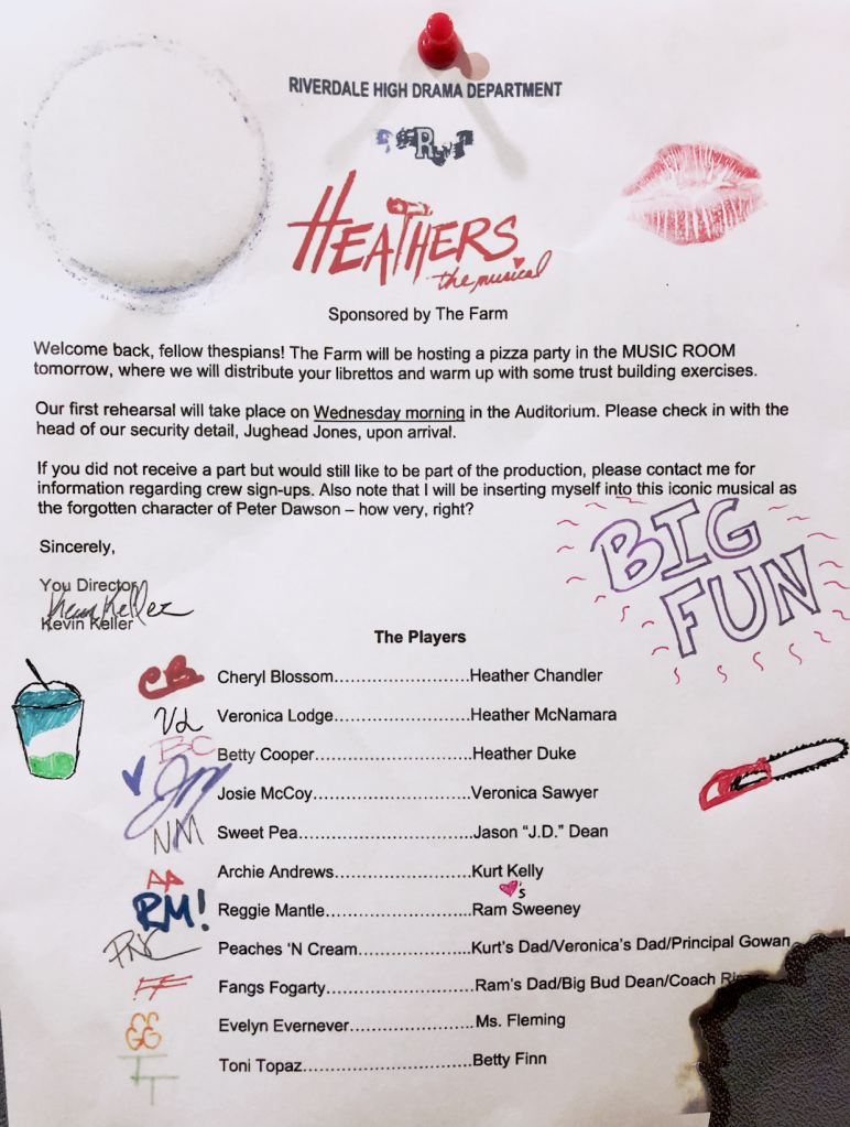 Riverdale Heathers Musical Cast