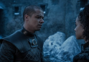 Game of Thrones Season 8 Episode 2 Grey Worm Missandei Kiss