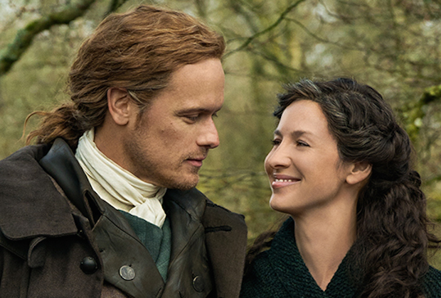 Outlander Season 5 Photo Jamie Claire Sam Heughan Caitriona Balfe