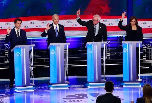 Democratic Debate Biden Harris