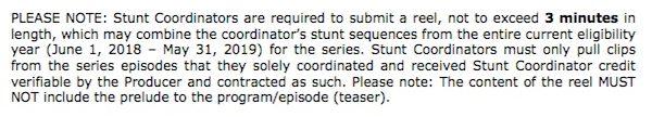 Emmys Stunt Rules