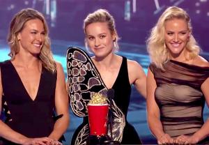 MTV Awards Brie Larson Captain Marvel Speech Stuntwomen