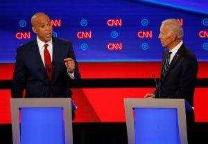 Democratic Presidential Debate Cory Booker Joe Biden