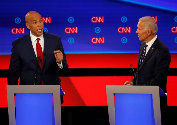 Democratic Presidential Debate Cory Booker Joe Biden