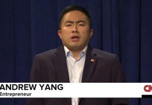 SNL Premiere: Bowen Yang as Andrew Yang