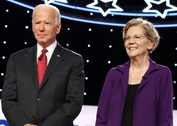 Democratic Presidential Debate 2020 Biden Warren