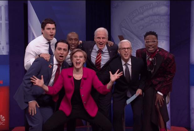 Saturday Night Live video Woody Harrelson Joe Biden CNN LGBTQ sketch