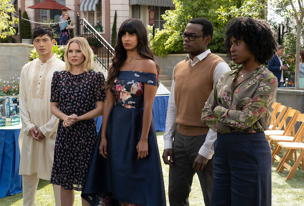 The Good Place Season 4 Episode 6 Jason Eleanor Tahani Chidi Simone
