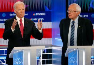 Democratic Debate 2020 Joe Biden Bernie Sanders