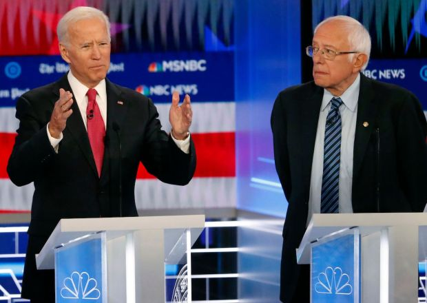 Democratic Debate 2020 Joe Biden Bernie Sanders