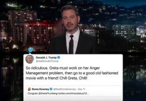 Donald Trump vs. Greta Thunberg - Jimmy Kimmel Monologue