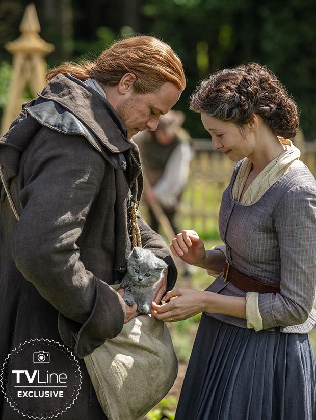 Outlander Season 5 Photos Jamie Claire Adso Cat