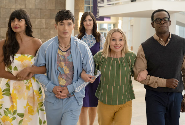 The Good Place Season 4 Episode 12 Tahani Jason Eleanor Chidi
