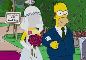 The Simpsons Wedding Video