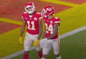Super Bowl Yellow Gloves