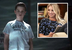 young sheldon kaley cuoco guest star season 3
