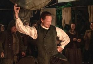 Oultnader Jamie Dancing Season 5 Episode 5 Sam Heughan Interview