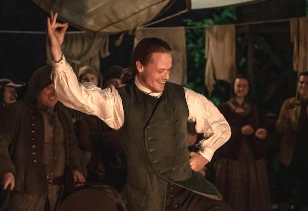 Outlander Jamie Dancing Season 5 Episode 4 Sam Heughan Interview Tvline