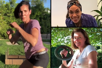 Lucy Lawless, Daniela Ruah, Many Others Trade Blows in Xena Stunt Vet Zoë Bell's Lockdown Fight Video