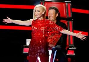 Gwen Stefani and Blake Shelton on 'The Voice'
