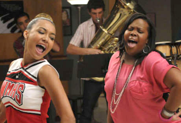 Naya Rivera & Amber Riley in 'Glee' - Santana and Mercedes