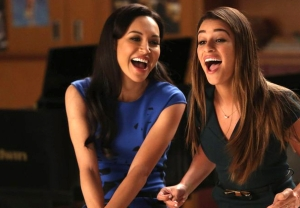 Naya Rivera & Lea Michele in 'Glee' - Santana and Rachel