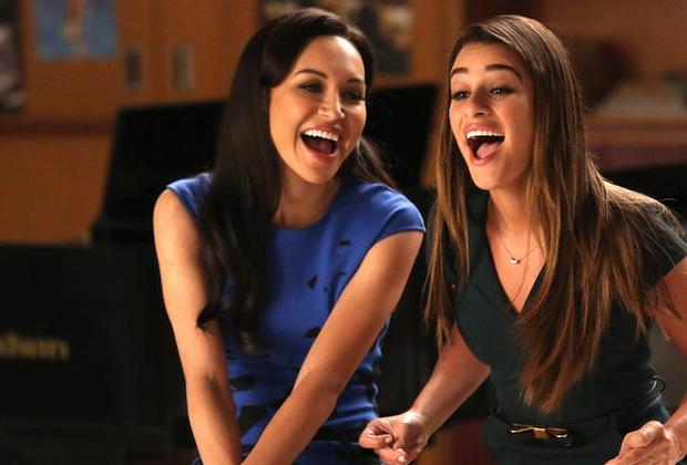 Naya Rivera & Lea Michele in 'Glee' - Santana and Rachel