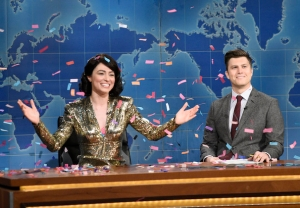 'SNL' - Colin Jost and Melissa Villasenor