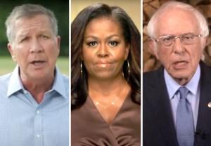 michelle obama bernie sanders john kasich dnc night 1 2020 video