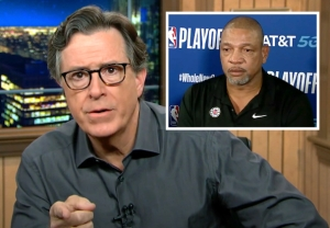 Stephen Colbert and L.A. Clippers coach Doc Rivers