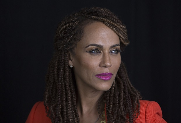 "Nicole Ari Parker in promotion of her upcoming talk show ""The Boris and Nicole Show"" on Monday, June 15, 2015 in New York. (Photo by Amy Sussman/Invision/AP)"