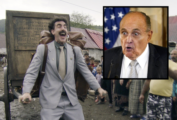 Borat Sequel, Featuring Compromising Rudy Giuliani Scene, Drops Early on Amazon Ahead of Presidential Debate
