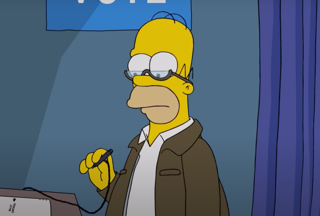 The Simpsons Video: Voting Is a Nightmare for Homer in Timely 'Treehouse of Horror' Sneak Peek