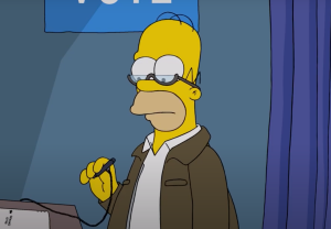 The Simpsons Video Election Homer Voting