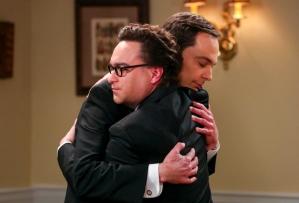 The Big Bang Theory - Leonard and Sheldon hugged before Sheldon and Amy's wedding