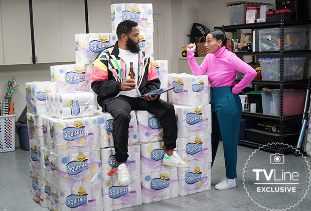 blackish season 7 episode 9 photo dre toilet paper