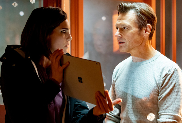 """Raising the Dead"" - Pictured: Daniela Ruah (Special Agent Kensi Blye) and Frank Military (David Kessler). In order to get intel on a matter of national security, Kensi must come face-to-face with a sociopath who has been obsessed with her since she put him in jail years ago. Also, though Eric is desperate to keep Kensi safe, he is forced to leave NCIS, on NCIS: LOS ANGELES at a special time, Sunday, Dec. 6 (10:30-11:30 PM, ET/10:00-11:00 PM, PT) on the CBS Television Network. Photo: Ron Jaffe/CBS ©2020 CBS Broadcasting, Inc. All Rights Reserved."
