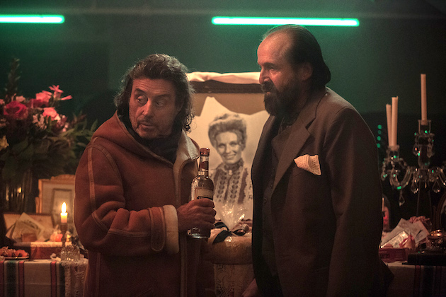 American Gods' Ian McShane Talks Mr. Wednesday's Fancy Funeral Footwork