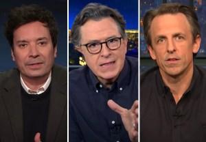Jimmy Fallon, Stephen Colbert, Seth Meyers Response to U.S. Capitol Violence