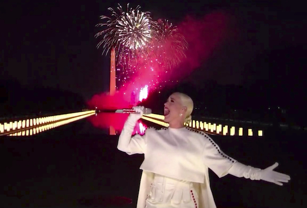 Watch Katy Perry's 'Firework'-Themed Inauguration Performance Again
