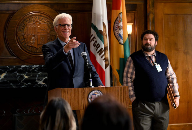 Ted Danson with Bobby Moynihan in Mr. Mayor