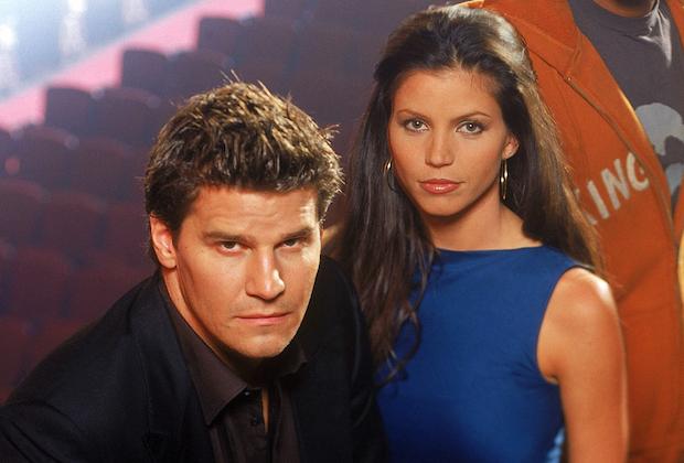 David Boreanaz and Charisma Carpenter in 'Angel'